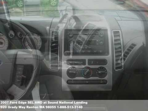 2007 Ford Edge SEL AWD, $20971 at Sound National Lending in Renton, WA
