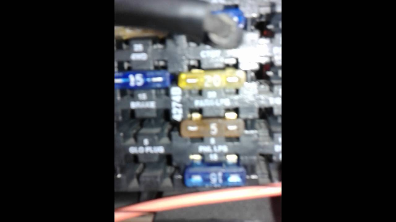 94 chevy fuse box panel light volt low [ 1280 x 720 Pixel ]