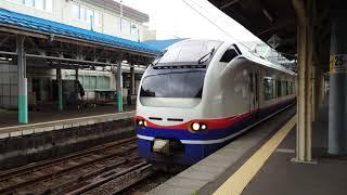 【4KHDR】■信越鉄道旅行〔駅車両風景〕JR特急[しらゆき]直江津駅