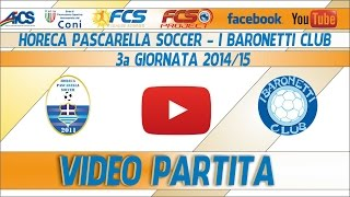 TORNEO | NAPOLI | Horeca Soccer - I Baronetti Club | FCS LEAGUE SUMMER Ca7 2014/15 | 3a Giornata