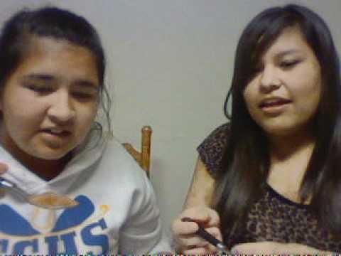 Montse and Josefina doin the Cinnamon challenge LOL