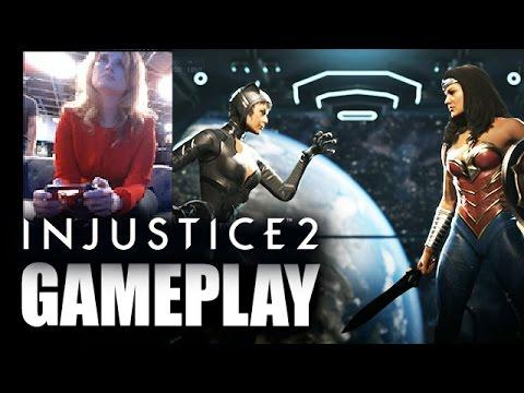 Injustice 2 Catwoman vs Wonder Woman GAMEPLAY