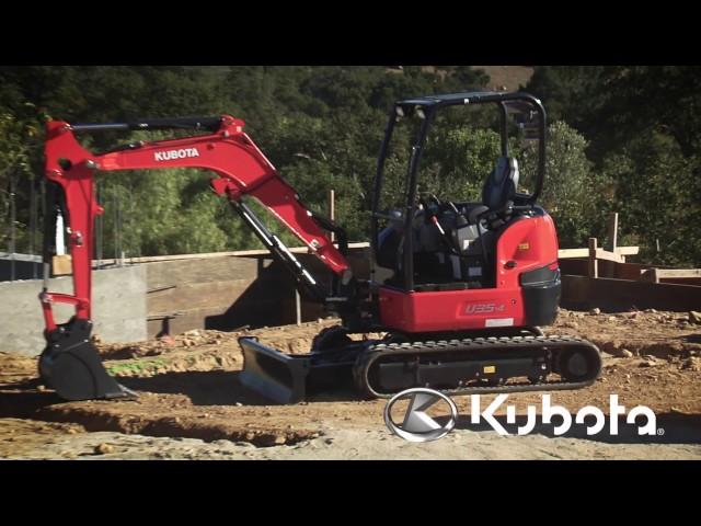 Tight Tail Swing Compact Excavator | Kubota U35-4