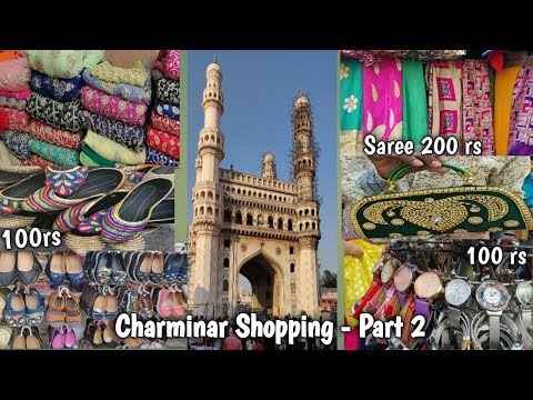 Shopping at charminar|Hyderabad street shopping|Laad|CHUDI b