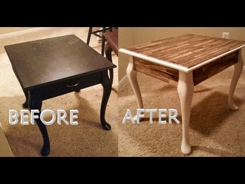 Diy Paint Stick Side Table With Daily Mandy Youtube