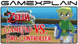 Zelda: Wind Waker HD - GamePad Vs. Pro Controller Head-to-Head Comparison Video