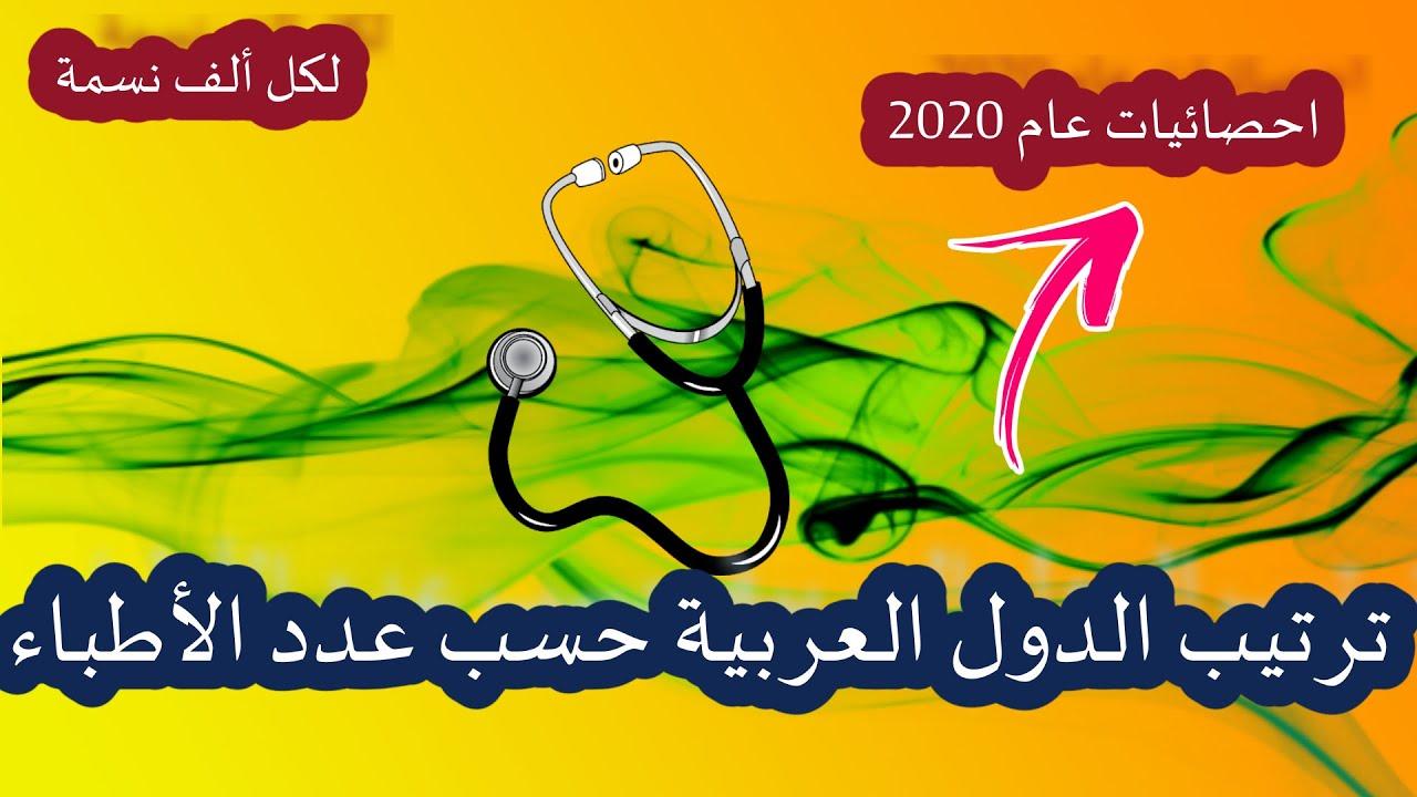 ترتيب الدول العربية حسب عدد الأطباء لكل ألف نسمة حسب احصائيات 2019