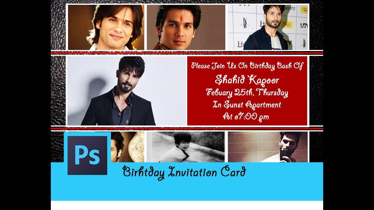 68ps birthday invitation card grown ups photoshop tutorial ps birthday invitation card grown ups photoshop tutorial in hindi stopboris Gallery