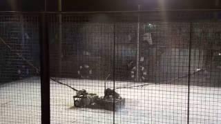 DRUMBOT vs FLIPPER ROBOWARS 3.0 TECHTATVA 2016 MIT MANIPAL