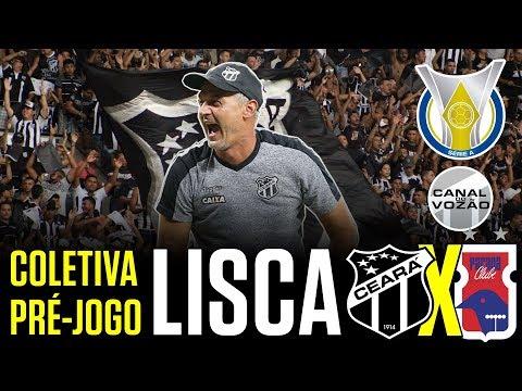 [Série A '18] Coletiva Lisca   Pré-jogo Ceará SC X Paraná Clube   Canal do Vozão