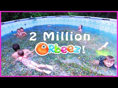 Thumbnail: 😂SWIMMING IN A FAMILY SIZE POOL OF ORBEEZ!!!🔮