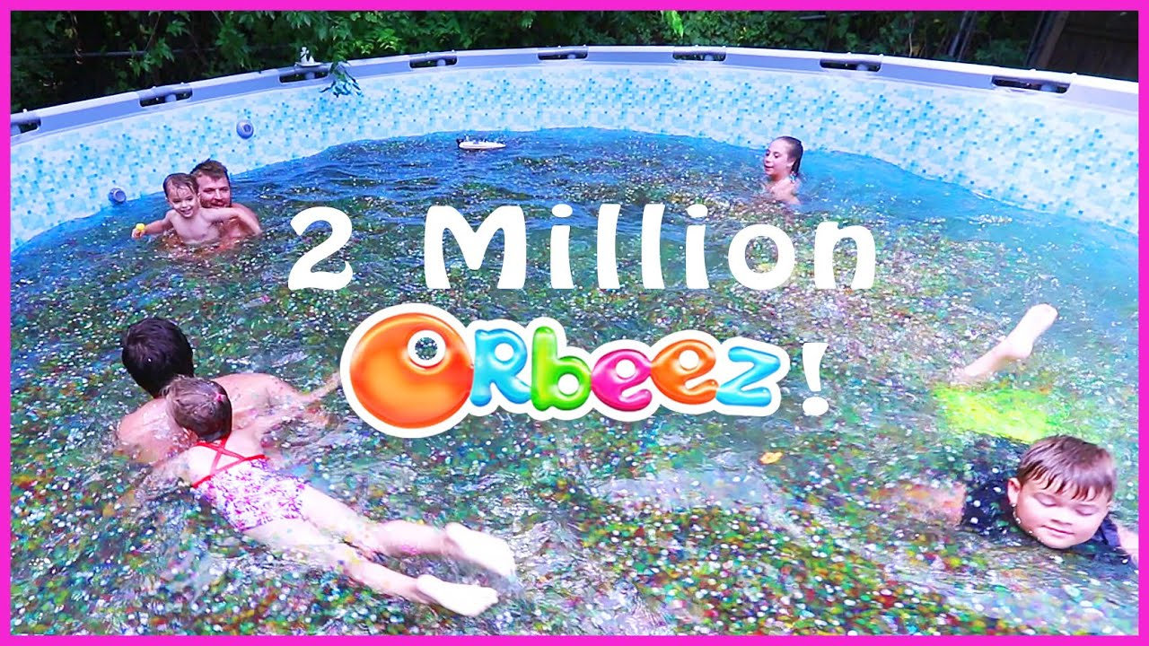 Swimming In A Family Size Pool Of Orbeez Youtube
