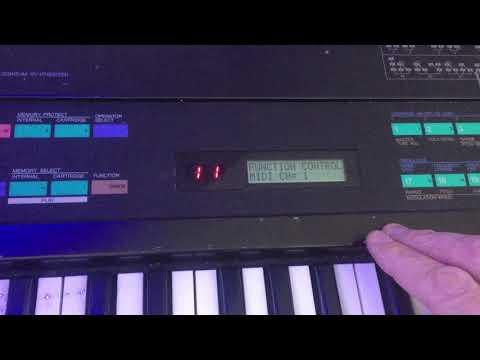 Yamaha DX7 MIDI-channel change