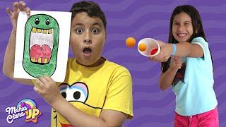 Maria Clara e JP ensinam brincadeiras divertidas para as crianças fazerem em casa!
