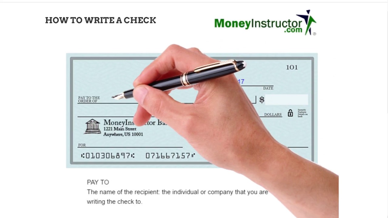 how to write check