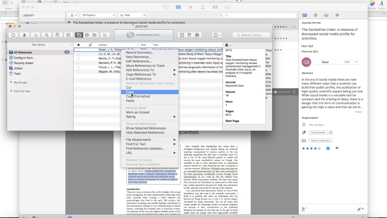 Endnote for Mac with PowerPoint for Mac