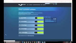 Steam Guthaben mit PaySafeCard (zb:5.00€) aufladen (FULL HD 60p)