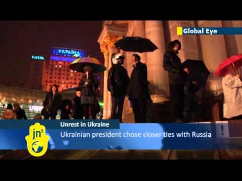 Euro Maidan in Kiev: Ukrainians rally against government decision to freeze EU integration