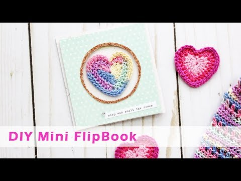 DIY Mini Flipbook for Snail Mail, Pen Pals and Scrapbooking
