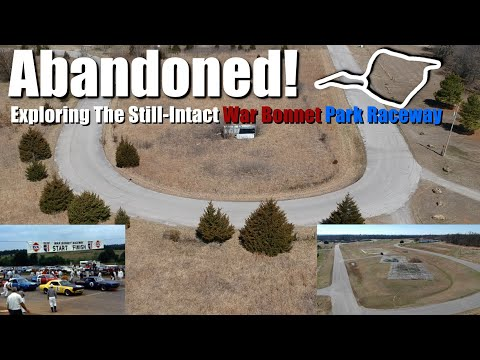 Abandoned Race Track: War Bonnet Raceway Park. Oklahoma's first dedicated road course.
