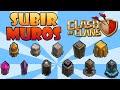 Clash of Clans COMO SUBIR LOS MUROS DE NIVEL RAPIDO Trucos y consejos de Clash of Clans en español