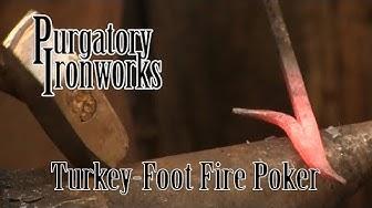 Turkey Foot Fire Poker ( Full Length )