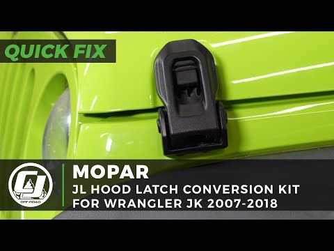 Jeep JK Install: How to fit Mopar Factory Jeep JL Wrangler Hood Latches on your Jeep JK Wrangler