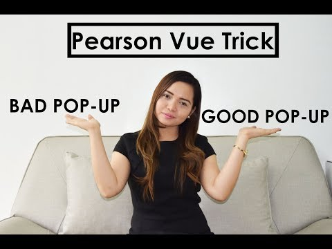 How to do the Pearson Vue Trick? (2018)