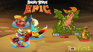 Angry Birds Epic: Vs Green Boss Dragon - Angry Birds Vs Puzzle and Dragons