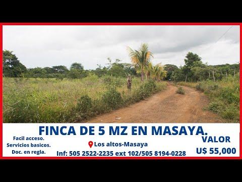Venta De Fincas - Propiedad En Masaya - Nicaragua