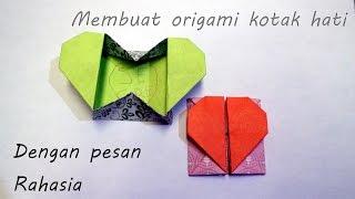 Cara membuat origami kotak hati Dengan Pesan Rahasia