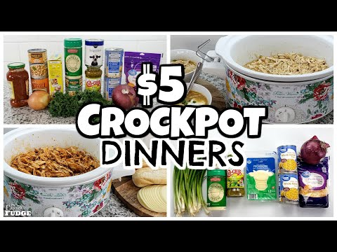 $5 EASY + HEALTHY CROCKPOT MEALS || Frugal Family Dinners in the Slow Cooker