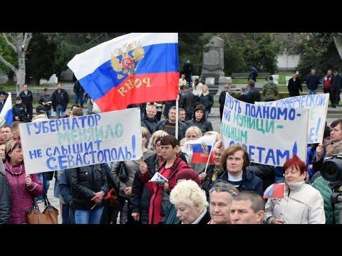 Протестный митинг предпринимателей Севастополя