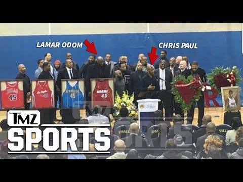 Huge NBA Stars Attend Rasual Butler Funeral, Deliver Emotional Chant | TMZ Sports