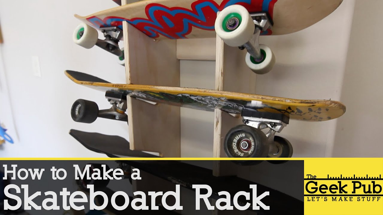 How To Make A Skateboard Rack   YouTube