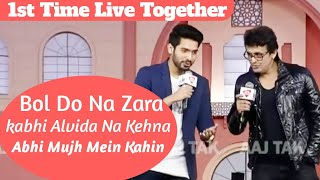 1st Time Sonu Nigam & Armaan Malik Singing Together At AajTak Agenda