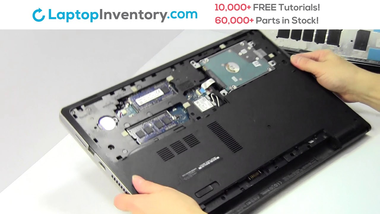 Dell Inspiron Hard Drive Replacement Guide - Disassembly Take Apart 15-3000  15-5000 15-7000 17-5000