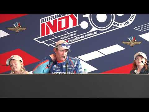 Scott Dixon Pole Day News Conference