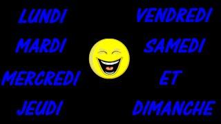French Days of the Week Song (Remix) - Les Jours de la Semaine