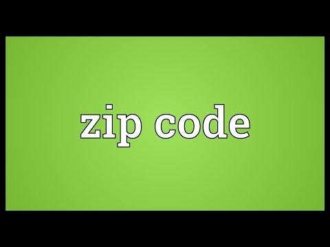 Zip code Meaning
