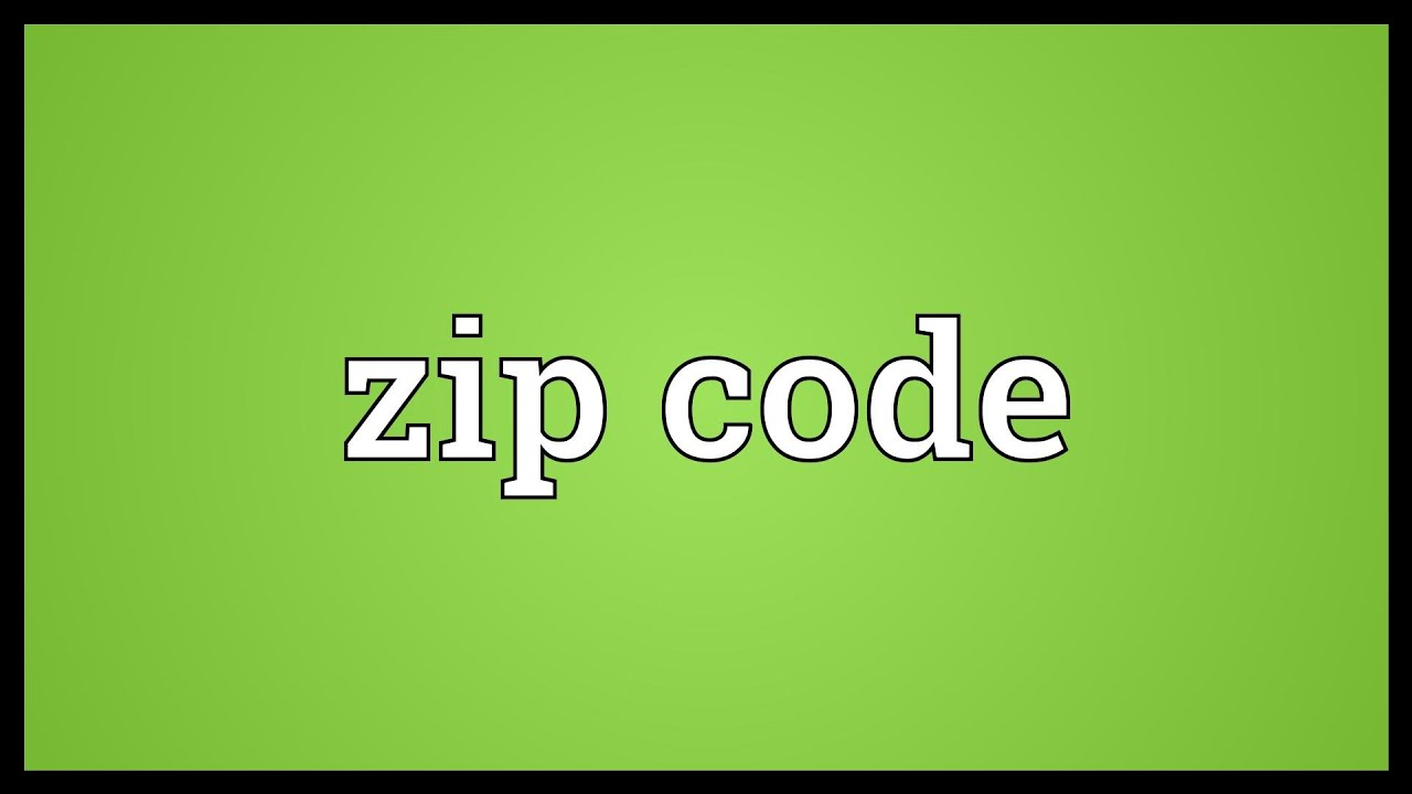 Zip Code Meaning YouTube - Us zip codes list excel