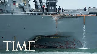 10 Sailors Are Missing After A U.S. Navy Warship Collides With A Tanker Near Singapore | TIME