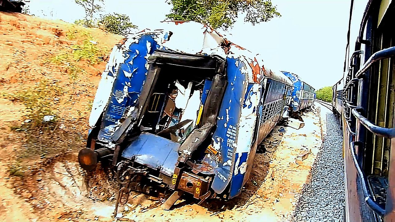 Train ACCIDENT Site : Indian Railways Ernakulam Express ...  Indian Railway Accidents