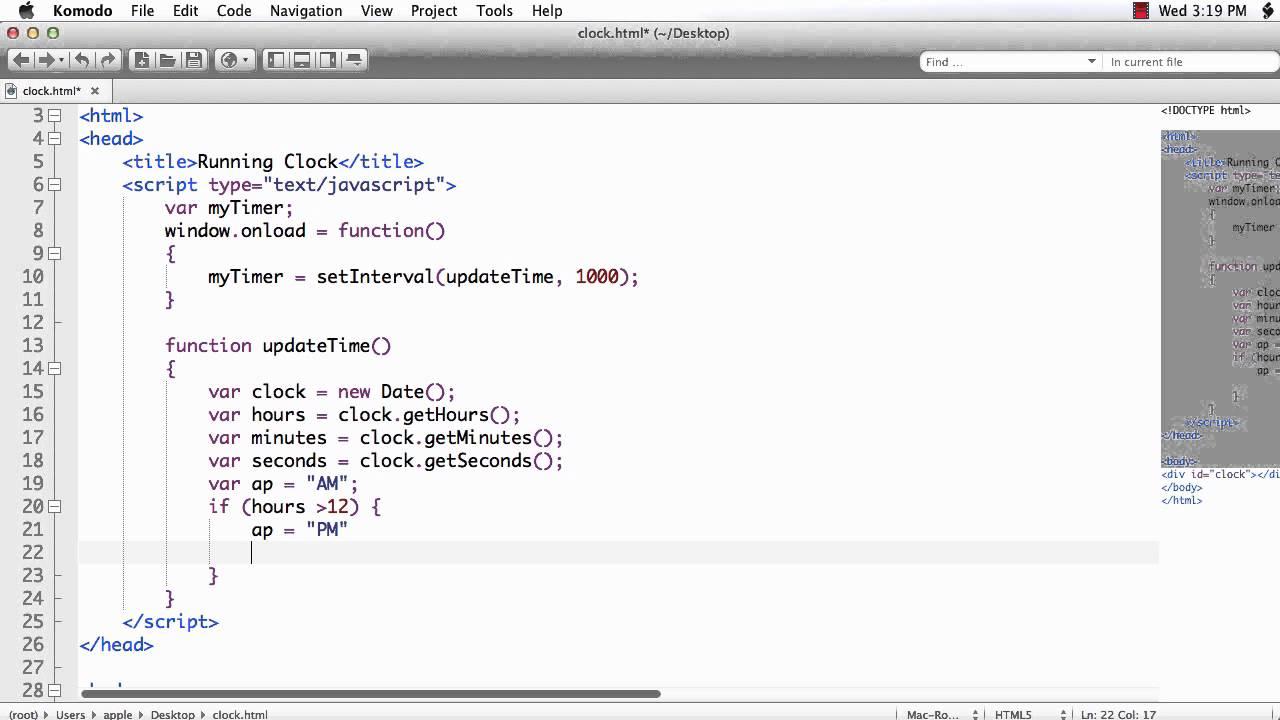 JavaScript: Create a Clock using JavaScript Date Object ...