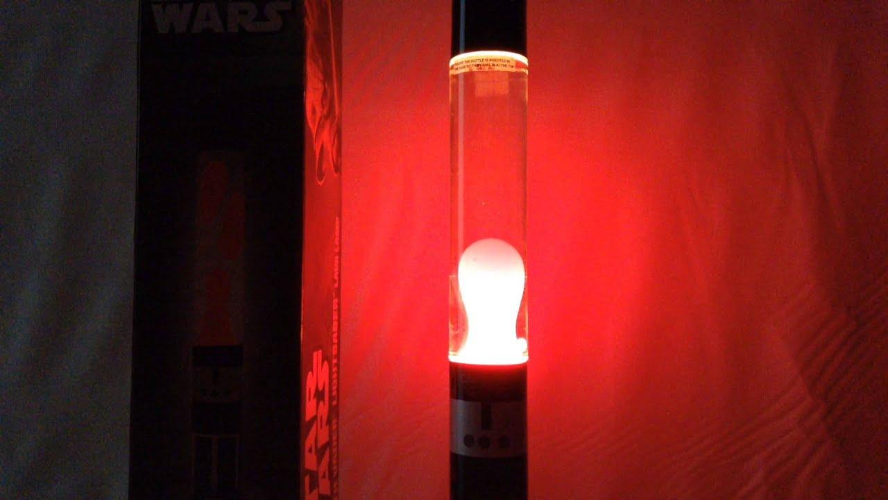 Darth Vader Lightsaber Lava Lamp Hd Review Youtube
