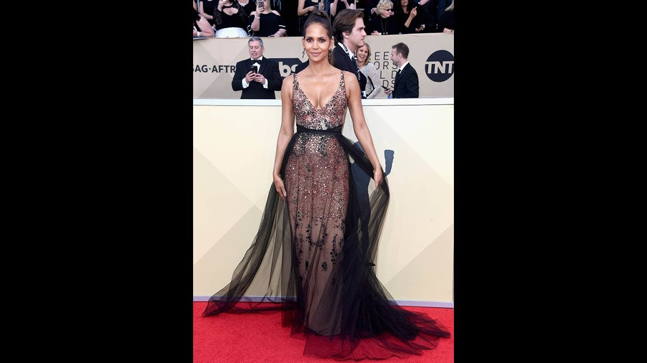 SAG Awards 2018: Halle Berry, 51, shows off gravity-defying assets ...