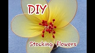 How To Make easy  n simple Stocking Flowers - DIY Crafts Tutorial