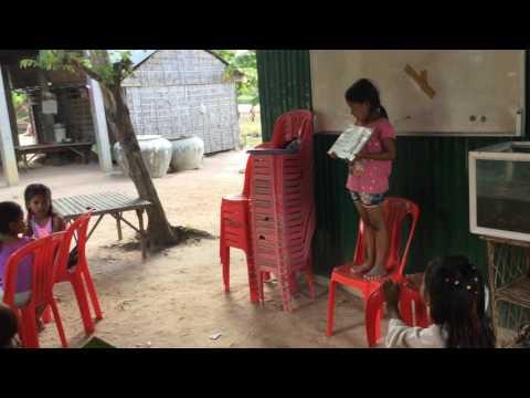 Cambodia Kids study English - Khmer kids learn English, Kids ABC, #1