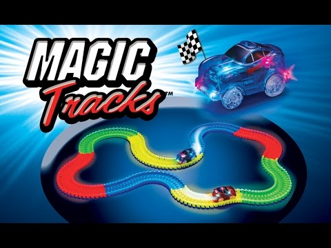 magic tracks for kids toysreview unboxing race track glows in dark youtube. Black Bedroom Furniture Sets. Home Design Ideas
