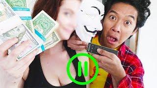Evil Hacker Girl Face Reveal Pause Challenge!!